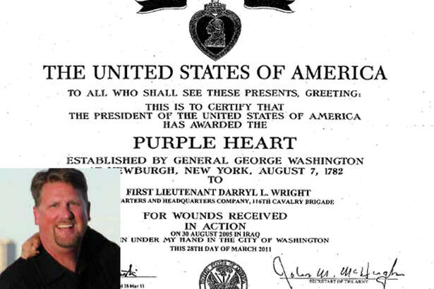 Snoqualmie resident Darryl Wright lied his way into a Purple Heart and Combat Action Badge while claiming to have been severely injured serving in Iraq with the Idaho National Guard. Prosecutors have asked that he be sentenced to five years in prison for frauds related to the scheme.