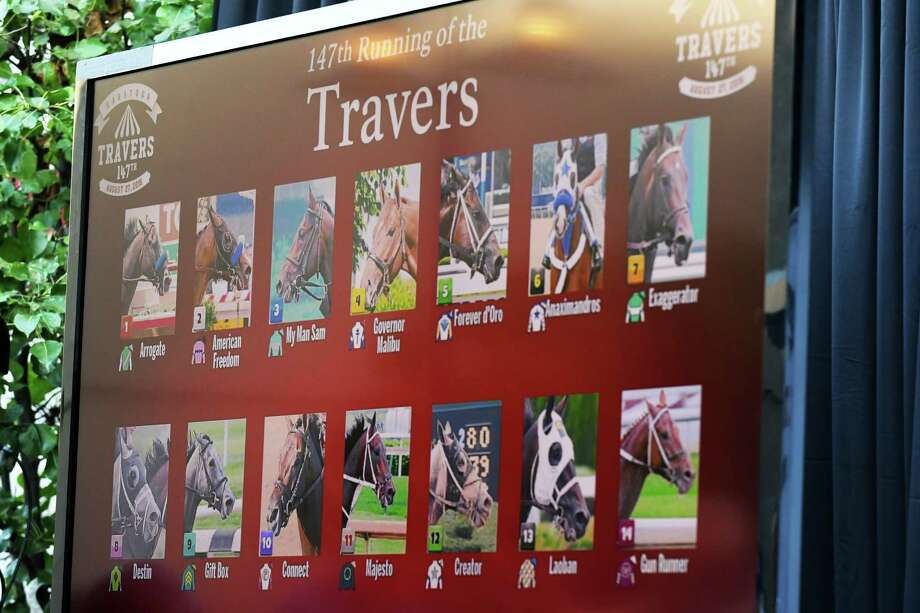 The 147th Travers draw announced at Druthers Restaurant on Tuesday Aug. 23, 2016 in Saratoga Springs, N.Y. (Michael P. Farrell/Times Union) Photo: Michael P. Farrell / 20037756A