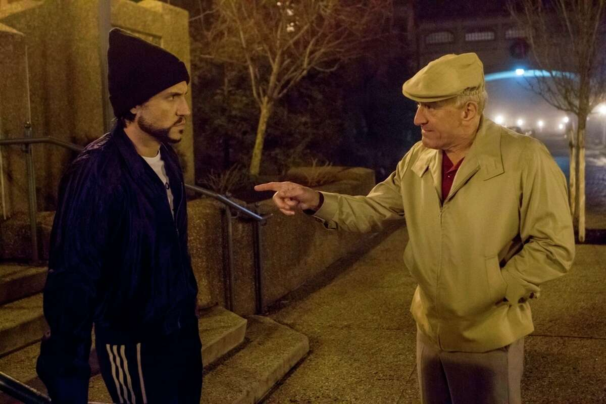 """This image released by The Weinstein Company shows Robert De Niro, right, and Edgar Ramirez in a scene from, """"Hands of Stone."""" (Rico Torres/The Weinstein Company via AP)"""
