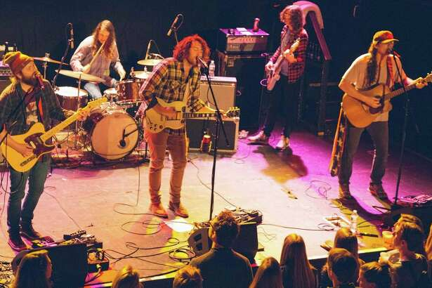 Eclectic Athens, Georgia band Futurebirds performs at the Bowery Ballroom in New York on Nov. 12, 2015.