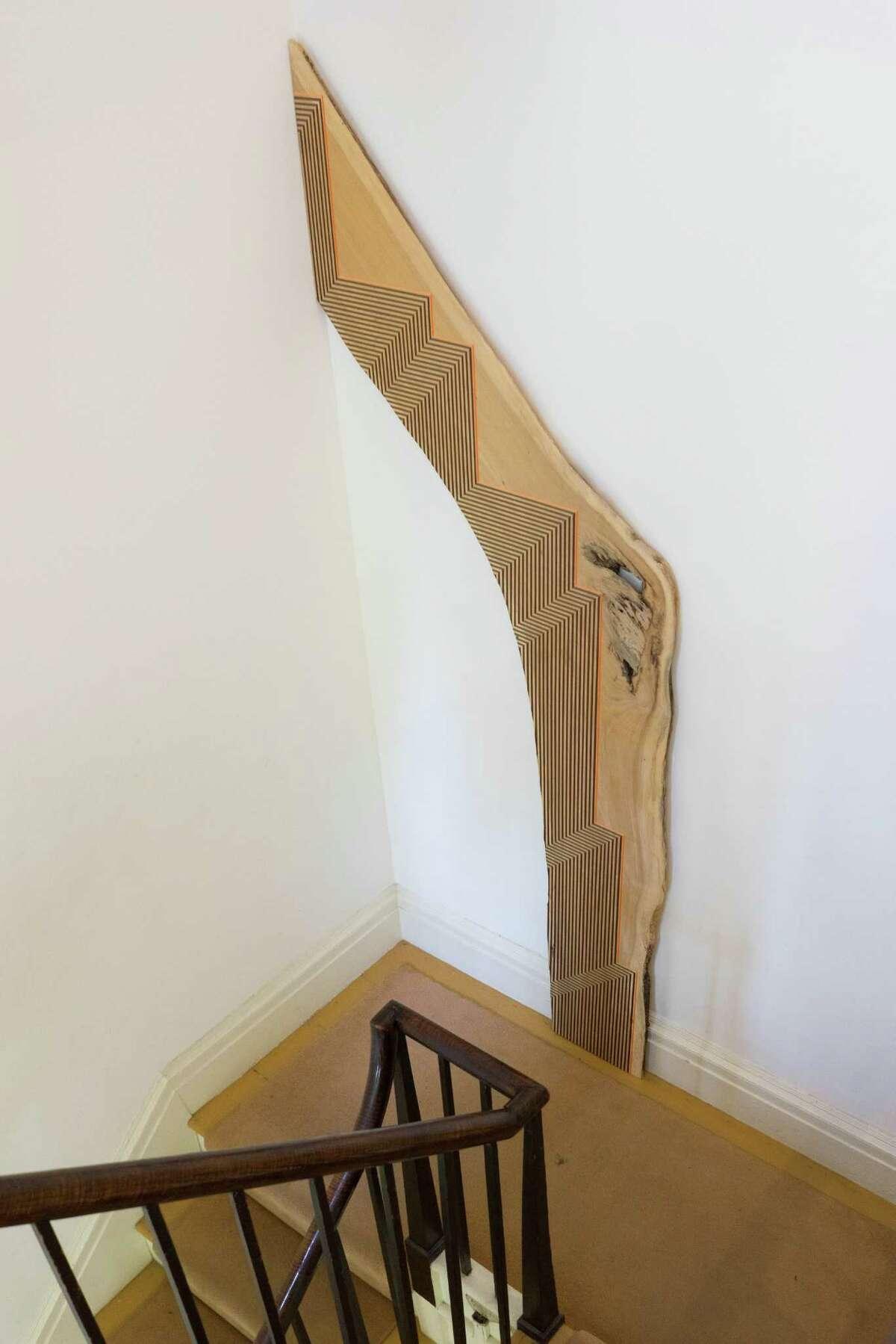 Middlebrook, Corner Steps, 2012, acrylic on maple, detail