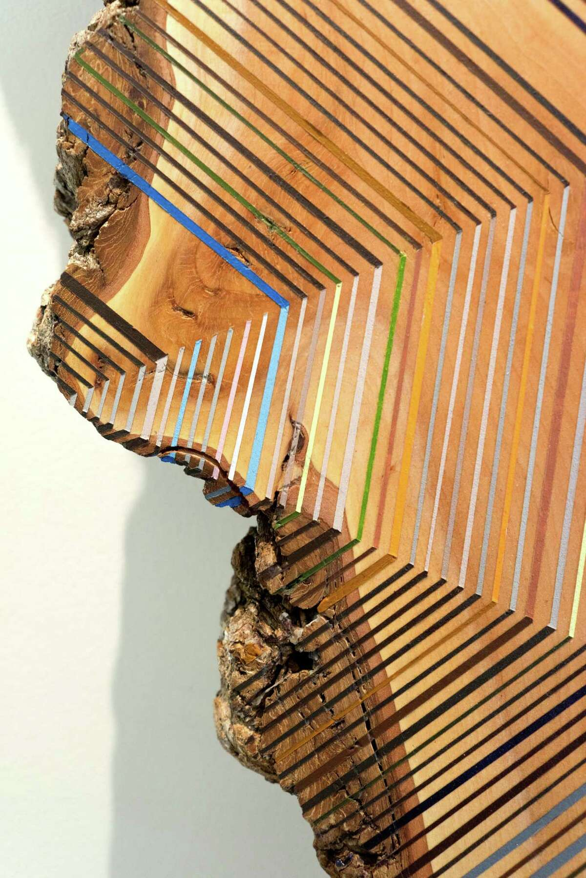 Middlebrook, Inside Out #2, 2014, acrylic on maple, detail