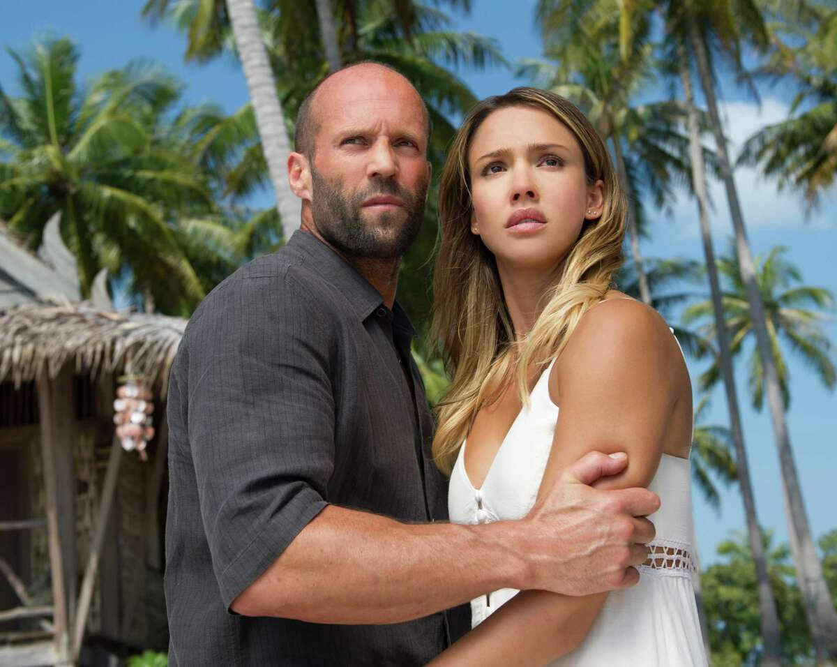 This image released by Summit Publicity shows Jason Statham, left, and Jessica Alba in a scene from