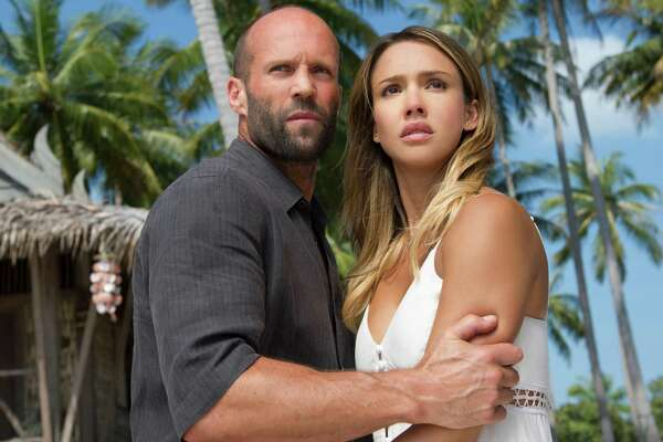 "This image released by Summit Publicity shows Jason Statham, left, and Jessica Alba in a scene from ""Mechanic: Resurrection."" (Summit Entertainment via AP) ORG XMIT: NYET823"