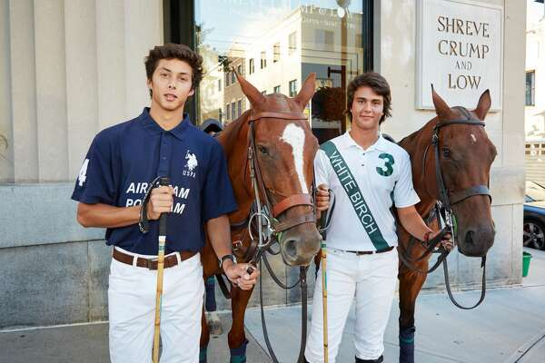 The East Coast Open is considered the biggest polo tournament of the summer in the United States. It takes place at Greenwich Polo Club and will feature eight of the best polo teams in the world. Matches are open to the public on August 28, September 4 and September 11. A draw party, held at Shreve, Crump & Low in Greenwich on August 23, 2016, is decided each polo teams' placement in the tournament. Two polo players and polo ponies greeted the public outside on Greenwich Avenue to kick-off the polo tournament.