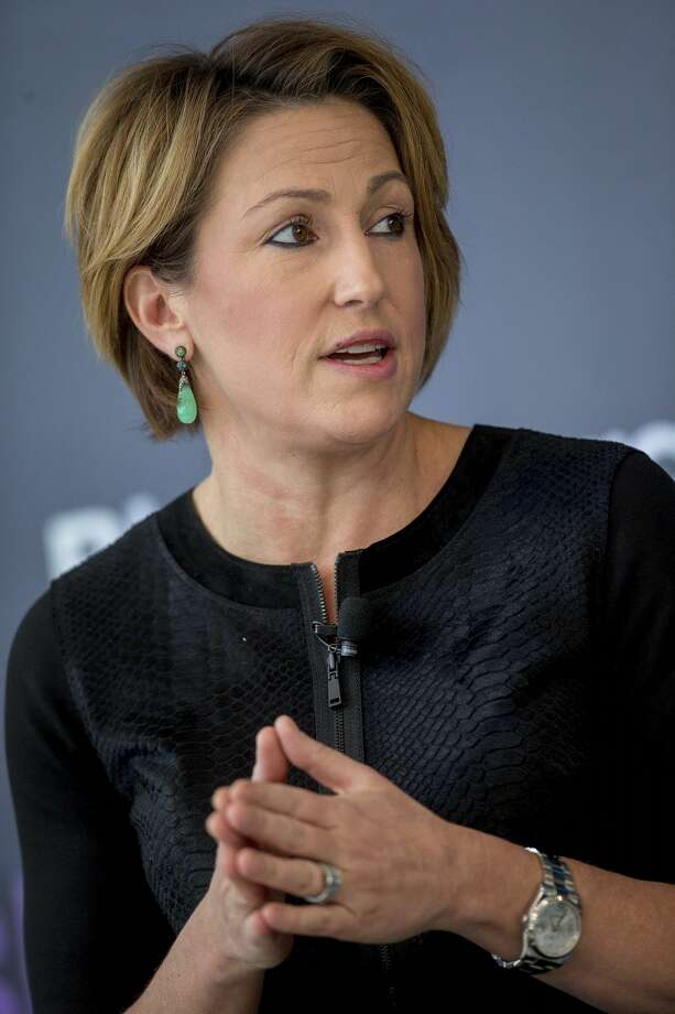 Heather Bresch, chief executive officer of Mylan Inc., speaks during a panel discussion at the Bloomberg Year Ahead: 2015 conference in Washington, D.C., on Nov. 14, 2014. Photo: Andrew Harrer/Bloomberg