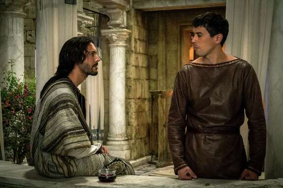 """Jack Huston as Judah Ben-Hur (left) and Toby Kebbell as Messala Severus are seen in a scene from """"Ben-Hur."""" Hollywood's blockbuster machine frequently stalled this summer, leaving behind a steady trail of misbegotten reboots, ill-conceived sequels and questionable remakes. Last weekend's dismal opening of the big-budget """"Ben-Hur"""" may have cost Paramount $100 million and could signal an end to the resurrection of the Bible epic."""