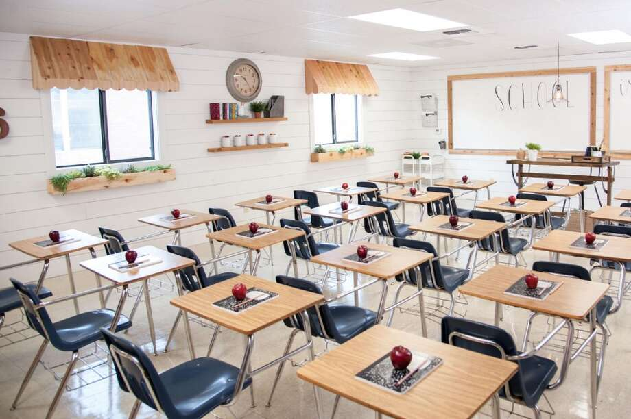 "A team with Magnolia Market, the store owned by ""Fixer Upper"" couple Chip and Joanna Gaines, gave a makeover to this sixth grade Waco classroom ahead of the 2016-2017 school year."