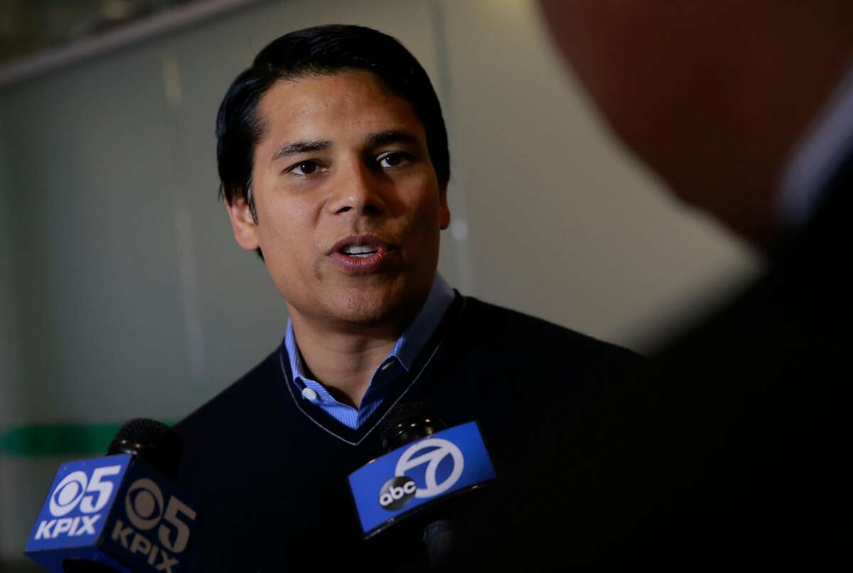 Nextdoor CEO and co-founder Nirav Tolia, on Wed. Aug. 24, 2016, at their headquarters in San Francisco, California, explains the changes the company has made to their social network after accusations of racial profiling surfaced from the community.