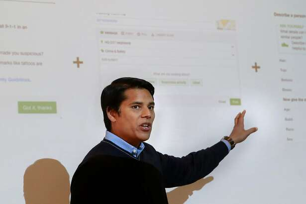 Nextdoor CEO and co-founder Nirav Tolia, on Wed. Aug. 24, 2016, at their headquarters in San Francisco, California, explains the changes the company has made to their social network to the media after accusations of racial profiling surfaced from the community.