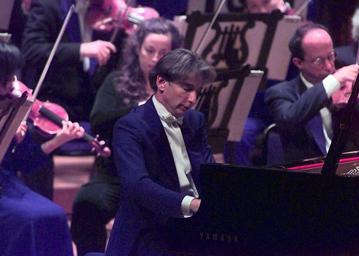 Michael Tilson Thomas performs during the SF Symphony gala opening at Davies Symphony Hall in San Francisco. SF SYMPHONY SOCIETY OPENING PHOTO By Michael Macor/ The Chronicle
