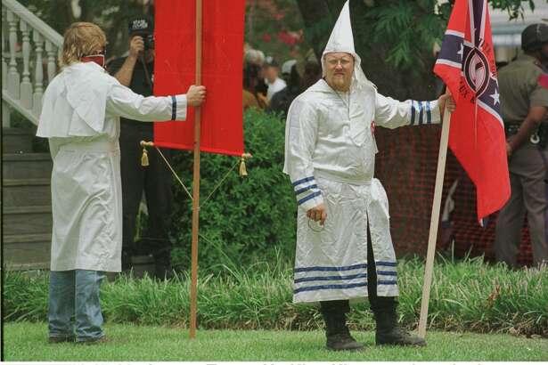 A Ku Klux Klan rally is shown June 27, 1998 in Jasper, Texas where James Bryn was murdered earlier that month.