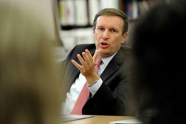 U.S. Senator Chris Murphy meets with Danbury Public School educators in Danbury, Wednesday, August 24, 2016.