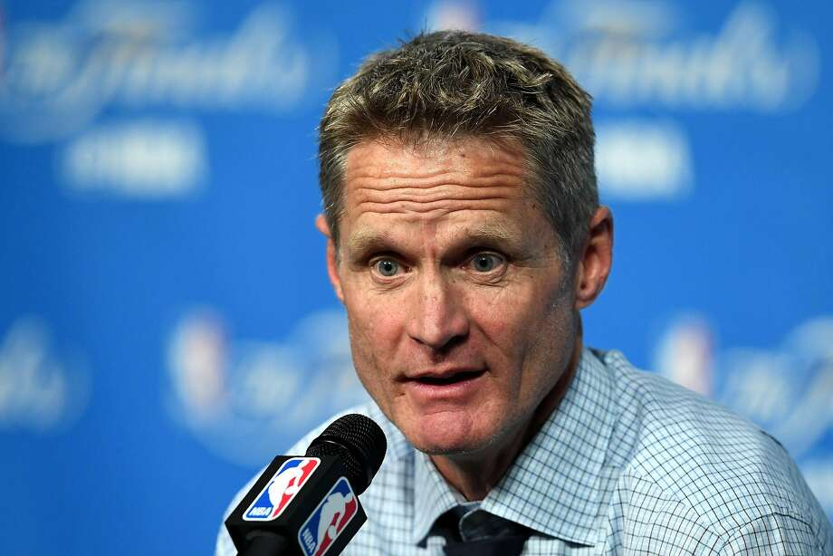 CLEVELAND, OH - JUNE 16:  Head coach Steve Kerr of the Golden State Warriors speaks to the media after being defeated by the Cleveland Cavaliers in Game 6 of the 2016 NBA Finals at Quicken Loans Arena on June 16, 2016 in Cleveland, Ohio. The Cavaliers defeated the Warriors 115-101. NOTE TO USER: User expressly acknowledges and agrees that, by downloading and or using this photograph, User is consenting to the terms and conditions of the Getty Images License Agreement.  (Photo by Jason Miller/Getty Images) Photo: Jason Miller, Getty Images