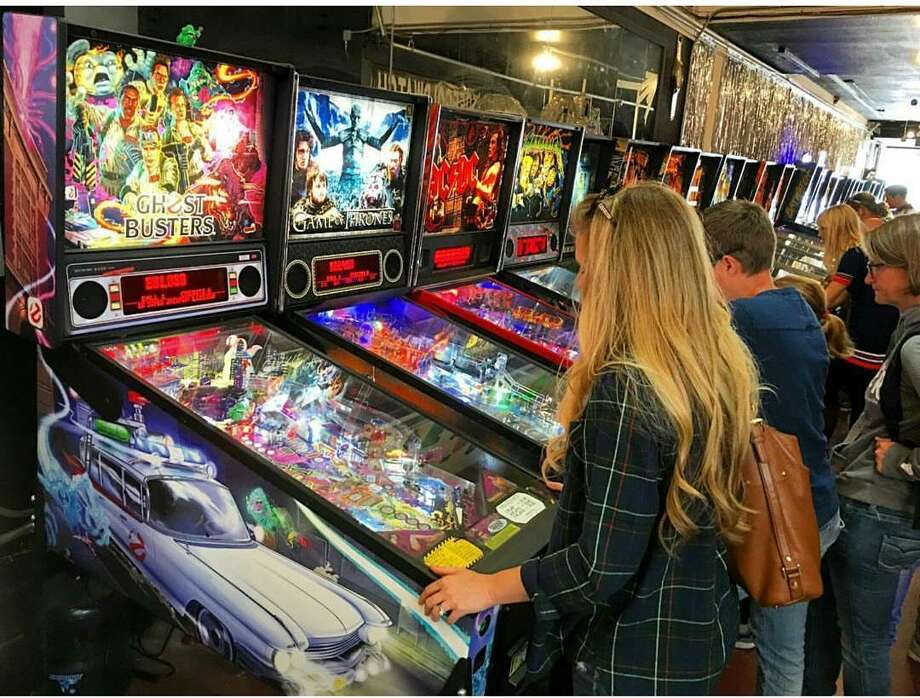 One of our favorite hidden fun spots is Free Gold Watch in San Francisco's Haight-Ashbury neighborhood. It's primarily a silk-screen printing shop, but is also home to a old-school pinball arcade filled with machines you'll recognize from childhood. You can put $20 in the change machine and be entertained for an hour. Photo: @sfpinball, Instagram