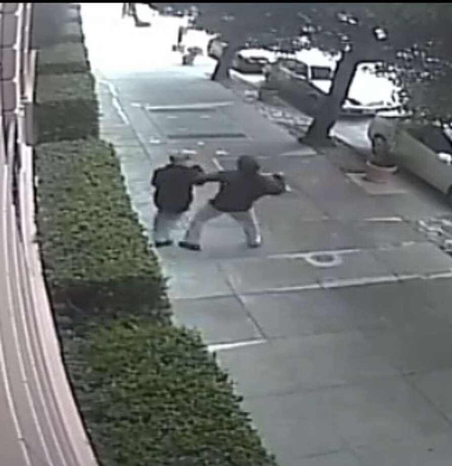 San Francisco Police are hunting for a man who brutally beat a woman police say he randomly targeted on a sidewalk near Lafayette Park in the city's Pacific Heights neighborhood on Saturday, Aug. 20, 2016. Photo: San Francisco Police Department / /