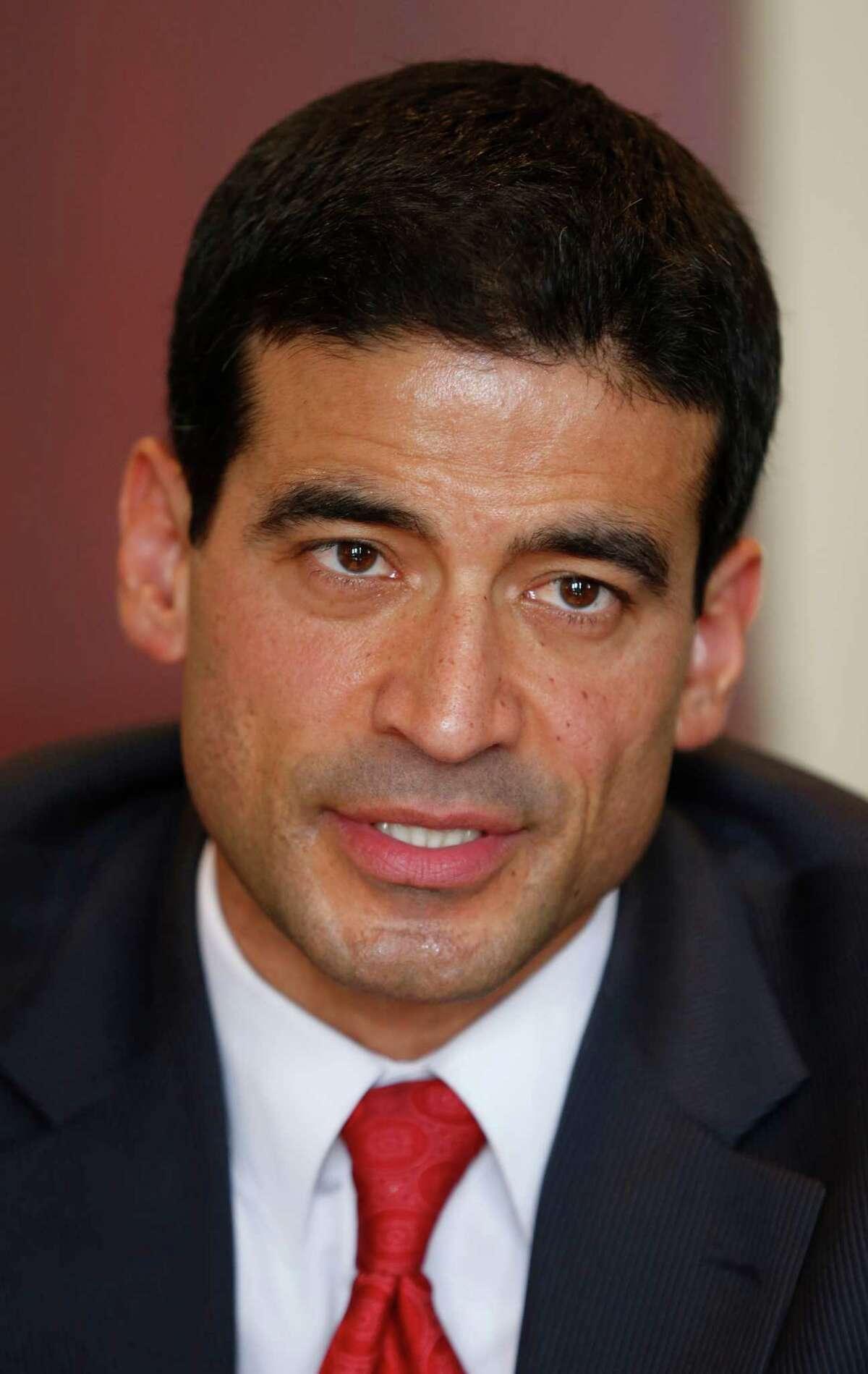 "Democratic District Attorney candidate Nicolas ""Nico"" LaHood talks Friday Jan. 17, 2014 to the San Antonio Express-News Editorial Board."