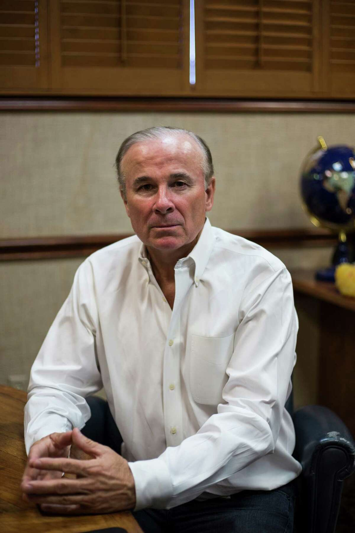 President of Five Star Cleaners Richard Thum at his office in San Antonio on Friday, August 12, 2016. Thum is one of many who lost more than $1 million in investments with a frac sand company, FourWinds Logistics, who is now accused of defrauding investors.
