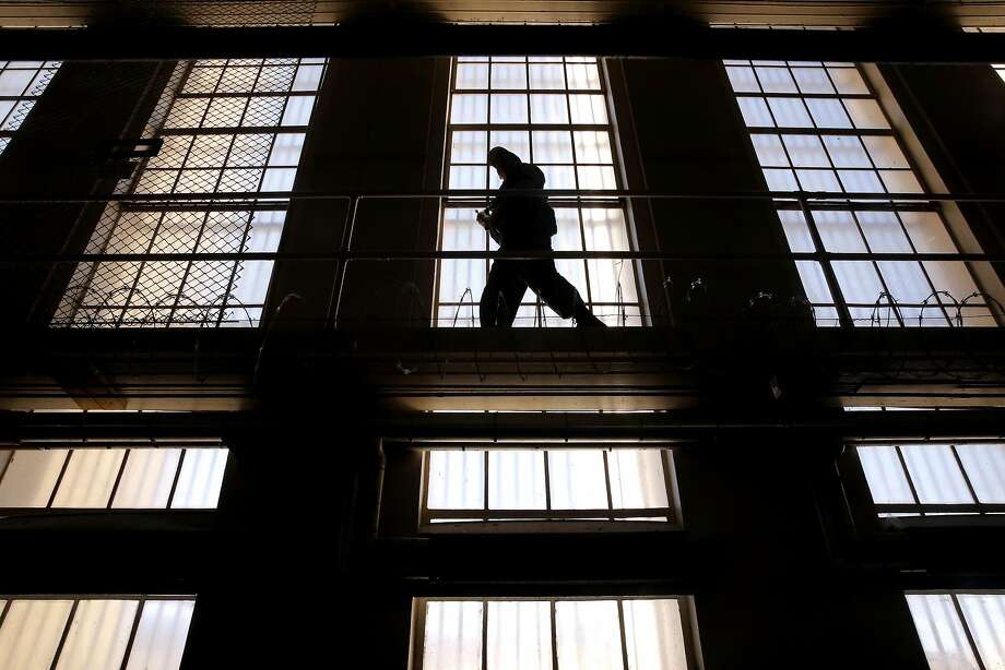 A guard on the catwalk at San Quentin State Prison in 2015. Photo: Michael Macor, The Chronicle