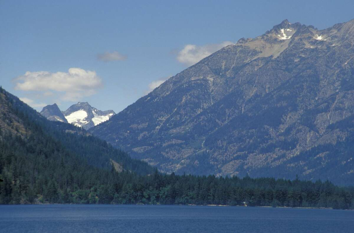 Washington and North Cascades National Park seen from Lake Chelan National Recreation Area. (Photo by Education Images/UIG via Getty Images)
