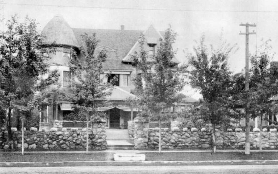Daily News archive photo This was one of the plush mansions built in Midland about the turn of the century. Shown is the home originally owned by Dr. C.E. MacCallum and later by the Hon. W.D. Gordon, an attorney who served as Speaker of the House of Representatives and also as an attorney for the federal government. The carriage block at the curb was to allow ladies to step down from the high carriages without showing an ankle. The small building partially shown at right was a law and real estate office. During a fire in about 1915, that started at the Brown Lumber Co. (then located next to the Gordon house at Ashman and Main streets) the house was destroyed. Some of the stones shown were used to build a mausoleum in Midland Cemetery where Mr. and Mrs. Gordon are buried.