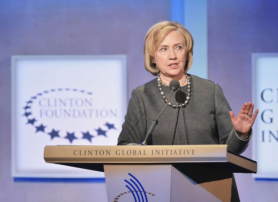 Hillary Clinton, as U.S. Secretary of State, addresses the audience during the Opening Plenary Session: Reimagining Impact for the Clinton Global Initiative in 2014 at the Sheraton New York Hotel & Towers in New York City.  Photo: Michael Loccisano