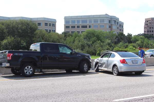 Emergency units responded to a crash on Highway 281, near the Mulberry Avenue and St. Mary's Street exit that involved a Scion TC sedan and a Ford F-150 pickup on Aug. 25, 2016.
