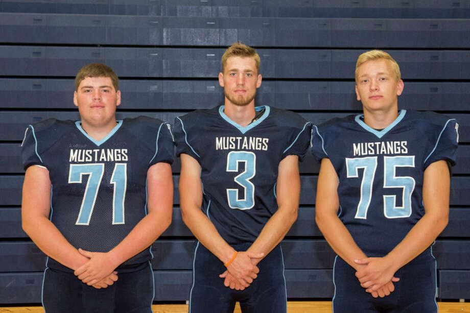 Meridian Mustangs returning starters are Trevor Terwilliger, Matt Hall and Spencer Deitrick.