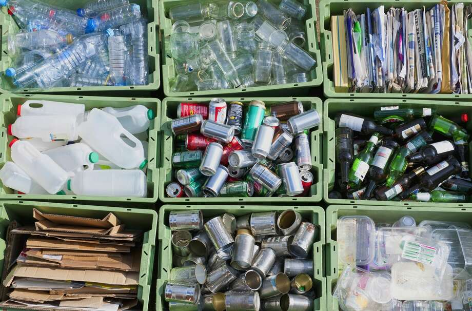 Close up of organized recycling bin Photo: Dave And Les Jacobs/Getty Images/Blend Images
