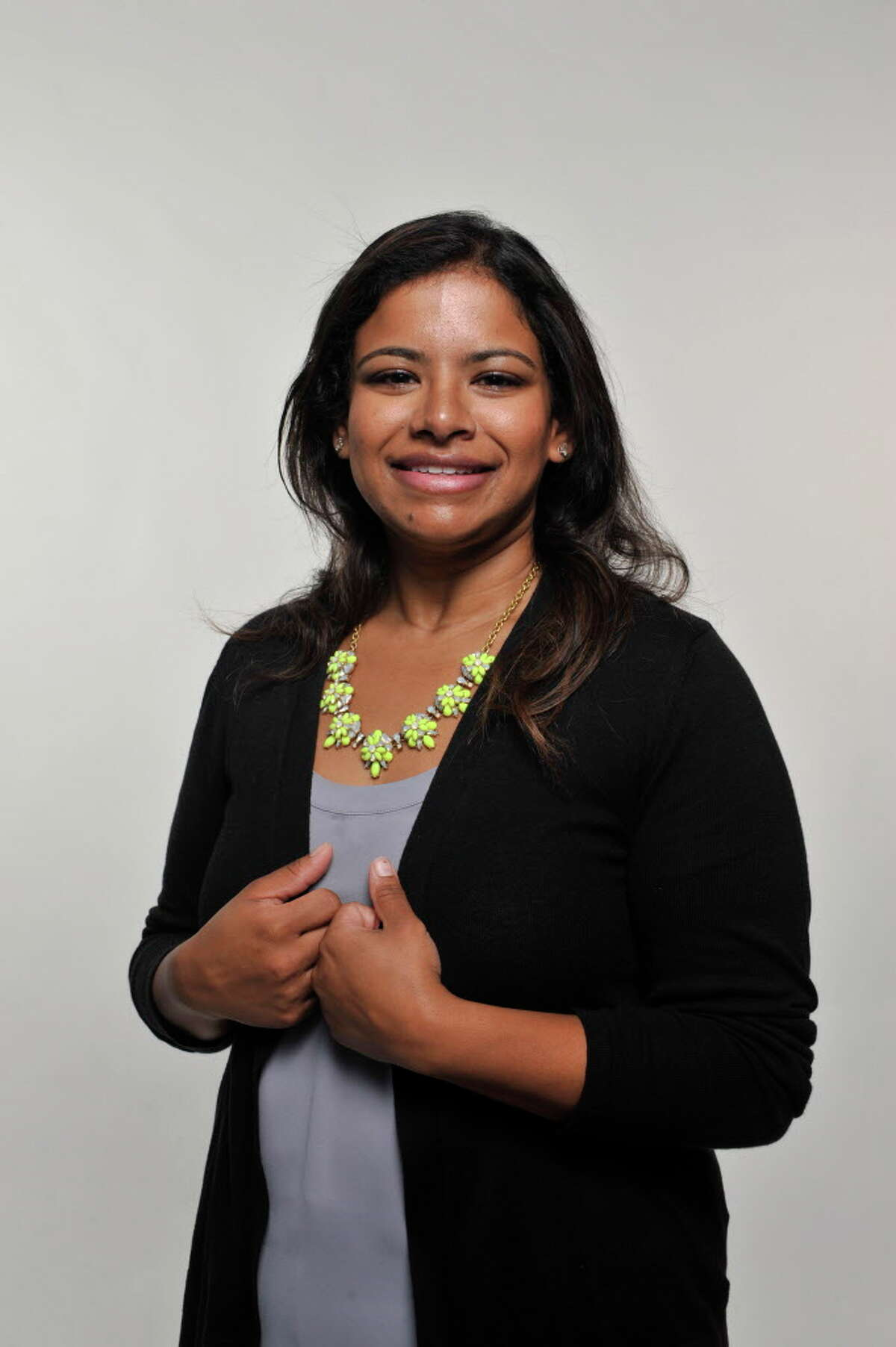 """Guilderland School Board member Seema Rivera: """"A lot of women, mostly moms, feel like they can come and talk to me about different concerns they have. They're comfortable asking questions and telling me their opinions."""""""