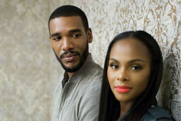 "Parker Sawyers, left, and Tika Sumpter, star in the new film ""South Side with You,"" a film about the first date which took place the summer 1989, between Barack and Michelle Obama. Tuesday, Aug. 16, 2016, in Houston."
