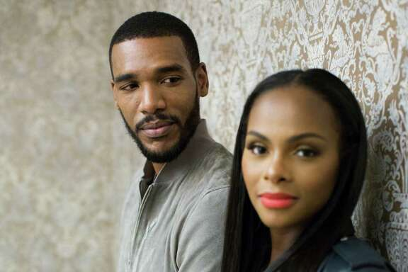 """Parker Sawyers, left, and Tika Sumpter, star in the new film """"South Side with You,"""" a film about the first date which took place the summer 1989, between Barack and Michelle Obama. Tuesday, Aug. 16, 2016, in Houston."""
