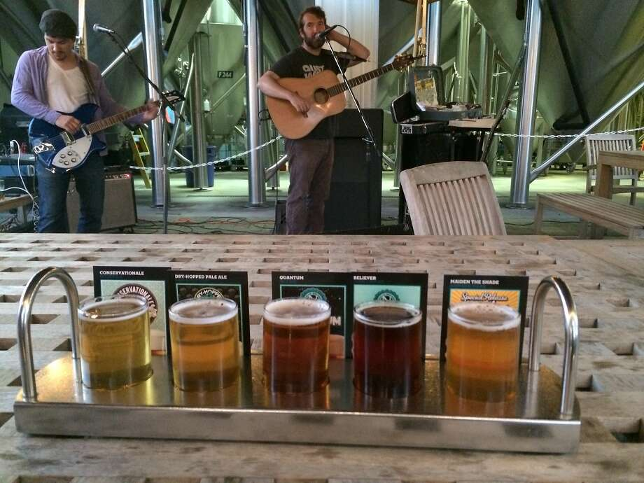 A sampler and live music at Ninkasi Brewing in Eugene, Ore. Photo: Jess Lander, Special To The Chronicle