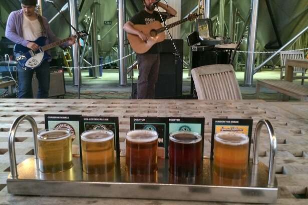A sampler and live music at Ninkasi Brewing in Eugene, Ore.