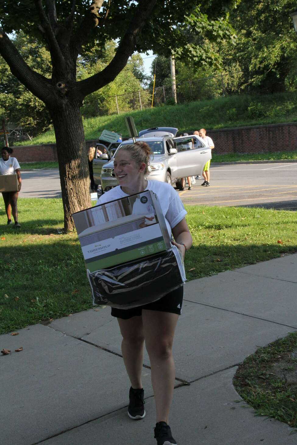 Were you Seen at Move-In Day for resident first-year and transfer students at The College of Saint Rose in Albany on Wednesday, August 24, 2016?