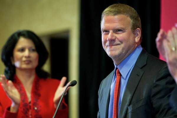 Tilman Fertitta is introduced during a news conference announcing his $20 million gift to the University of Houston to renovate the UH basketball arena, on Thursday, Aug. 25, 2016, in Houston.  Fertitta's gift to the university is the largest ever individual donation to UH Athletics. Following the renovation, scheduled for completion for the 2018-19 basketball season, the arena, now known as Hofheinz Pavilion, will be renamed the Fertitta Center.  ( Brett Coomer / Houston Chronicle )