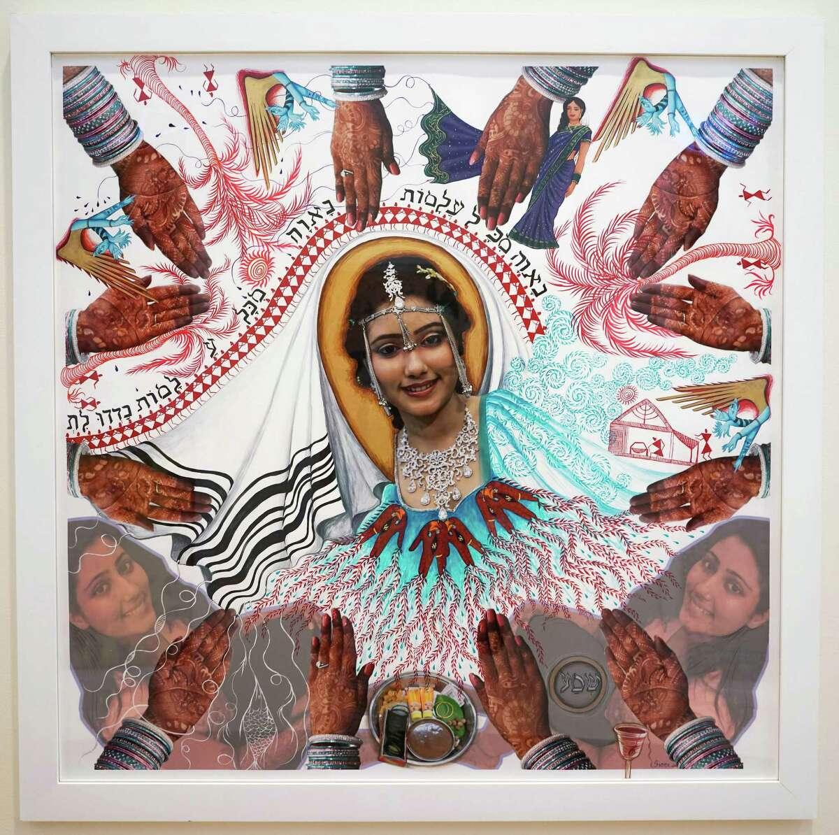 2011 photomontage-based Karen Simon (Borgawkar), Indian Jewish Bride by Siona Benjamin (Courtesy Opalka Gallery)