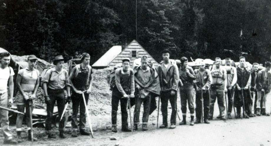 The first Student Conservation Association trail crew worked on the Hoh River Trail at Olympic National Park near Forks, Wash., in 1957.