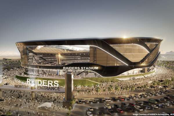 A rendering from the Oakland Raiders' stadium proposal in Las Vegas.
