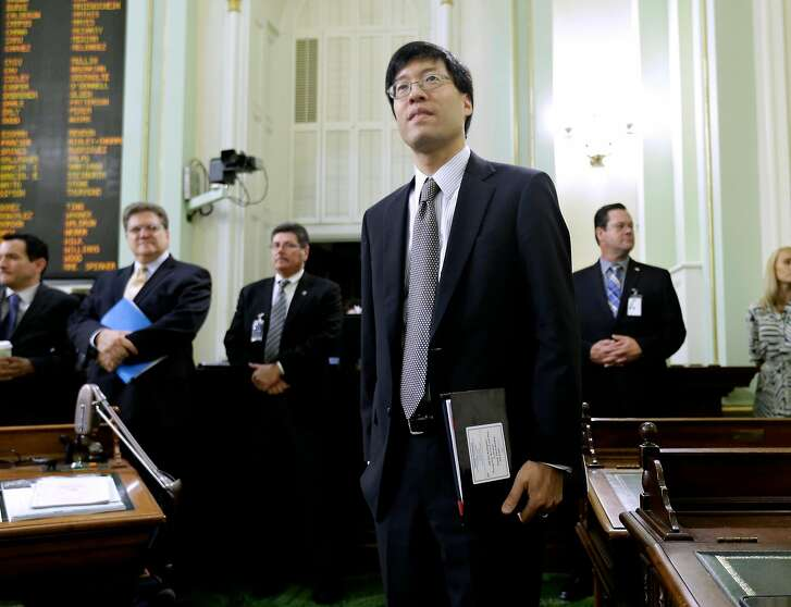 State Sen. Richard Pan, D-Sacramento, listens as lawmakers debate at the Capitol in Sacramento, Calif., Thursday, June 25, 2015. California's Assembly has approved a hotly contested bill requiring that nearly all public schoolchildren be vaccinated. (AP Photo/Rich Pedroncelli)