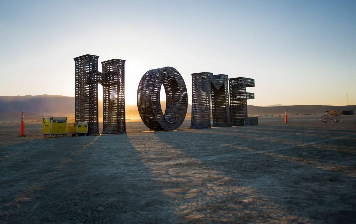 Burning Man 2016 setup: Black Rock City rises from the playa Artists and members of the Burning Man collective are busy erecting the temporary community known as Black Rock City and setting up art installations in the Black Rock Desert in Nevada. (