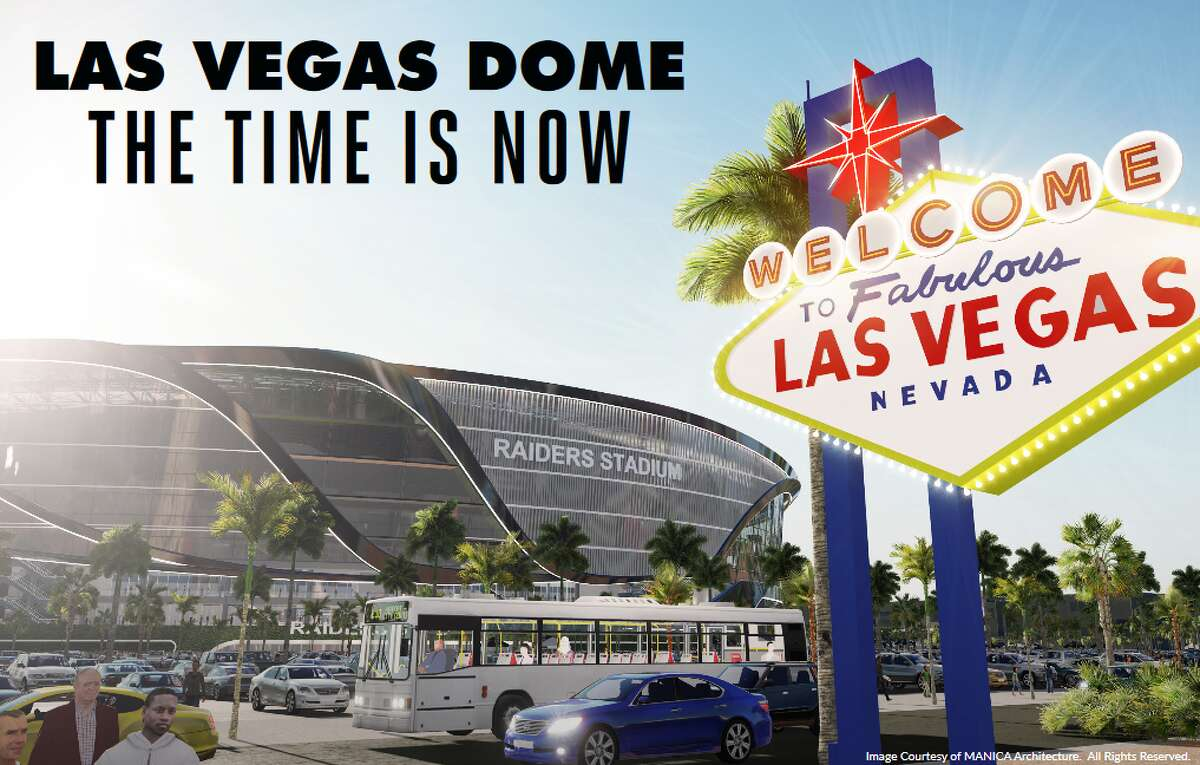Rendering of the proposed domed stadium in Las Vegas. (Image courtesy MANICA Architecture)