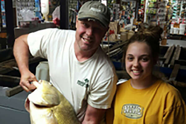 New York State Department of Environmental Conservation (DEC) Commissioner Basil Seggos announced today that Amelia Whalen of Witherbee caught a record breaking freshwater drum from Lake Champlain in Essex County on June 4. The fish measured 36.5 inches and weighed 29 pounds 14 ounces, breaking the previous state record set in 2014 by more than 3 pounds.