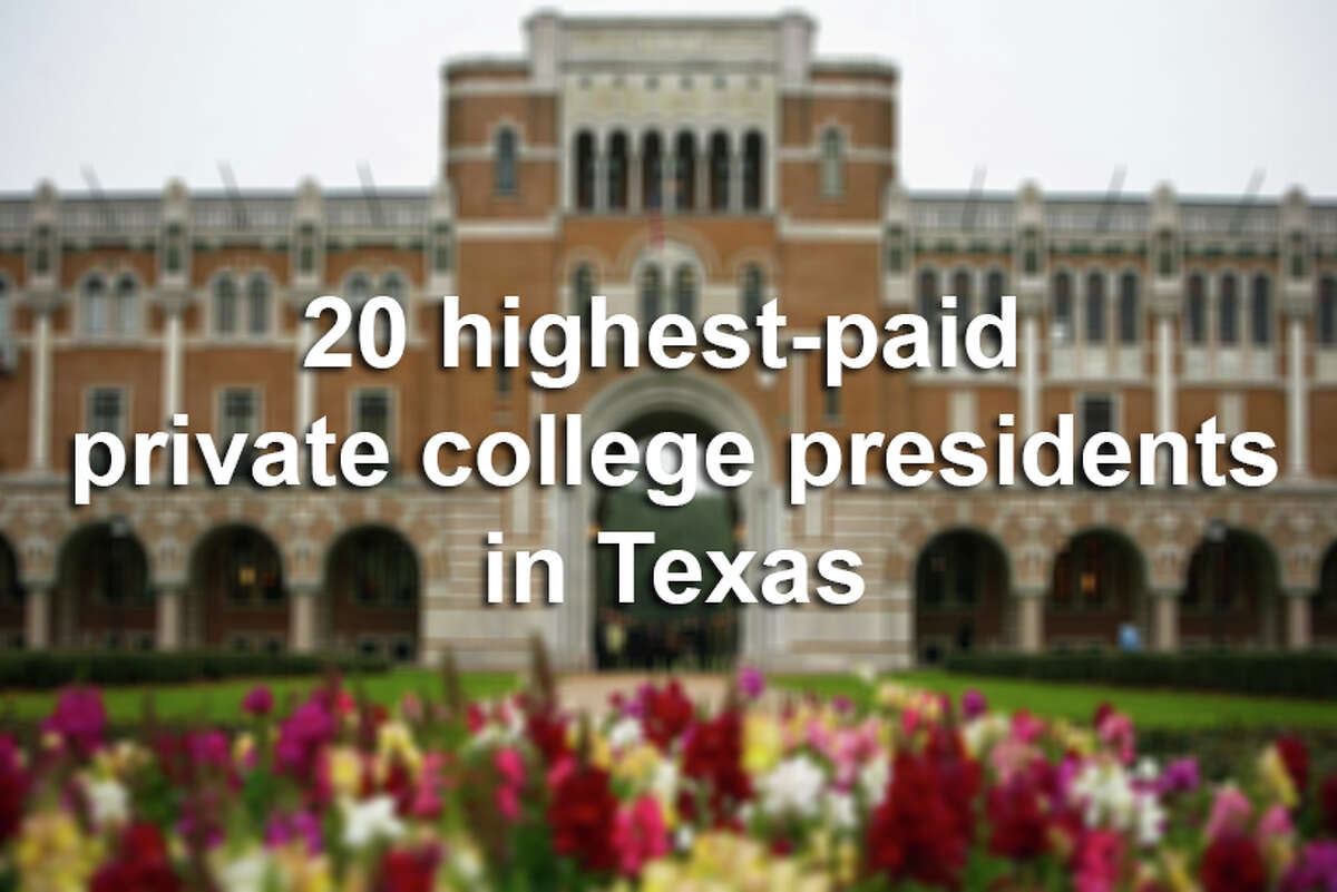 The Chronicle of High Education has released new data on just how much private college presidents make across America.See how much the school leaders make in Texas, and how their campuses stack up in the US News & World Report rankings.