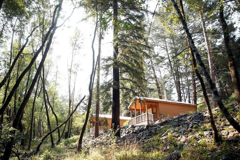 Samuel P. Taylor State Park in Lagunitas has five new cabins with electrical outlets, faux fireplaces, lighting and fans. Photo: Scott Strazzante, The Chronicle
