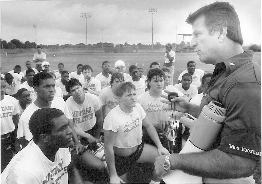 West Orange-Stark head football coach Dan Hooks during practice in 1986.  Enterprise archive photo Photo: Ryan Pelham / ©2016 The Beaumont Enterprise/Ryan Pelham