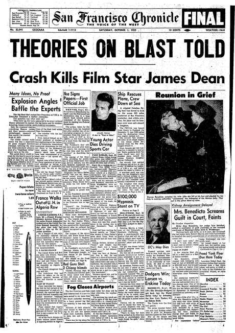Chronicle Covers The Night James Dean Died San Francisco Chronicle