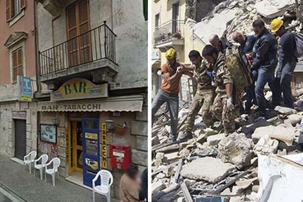 Italy before and after earthquake
