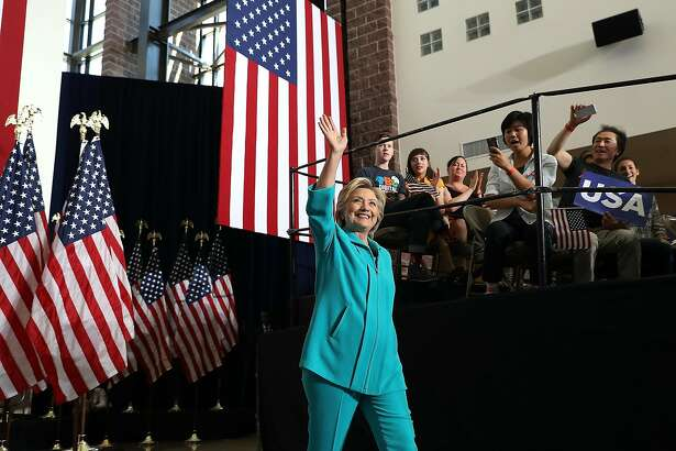 RENO, NV - AUGUST 25:  Democratic presidential nominee former Secretary of State Hillary Clinton greets supporters during a campaign even at Truckee Meadows Community College on August 25, 2016 in Reno, Nevada.  Hillary Clinton  delivered a speech about republican presidential nominee Donald Trump's policies.  (Photo by Justin Sullivan/Getty Images)