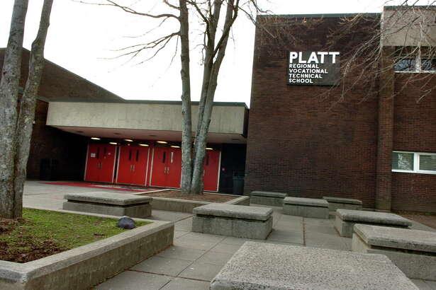 An exterior view of Platt Regional Vocational Technical High School in Milford, Conn. on Friday December 30, 2011.